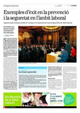 El Periódico Premi Ignasi Fina de Salut laboral