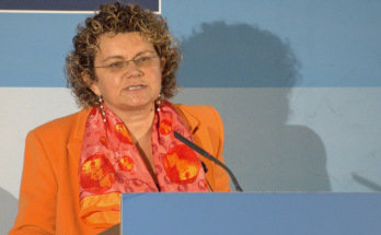 Marina Geli, durante su intervención en los Desayunos de PricewaterhouseCoopers y La Vanguardia