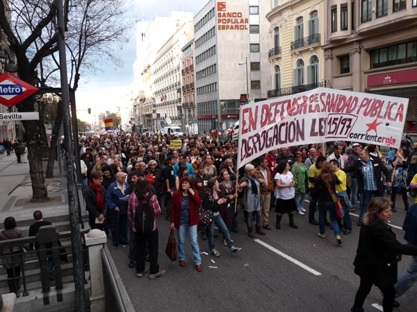 Madrid manifestación 22 abril 2010