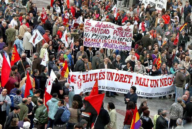 manifestació València 22 d'abril 2010