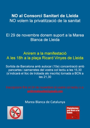 NO al Consorci Sanitari de Lleida_Cartell