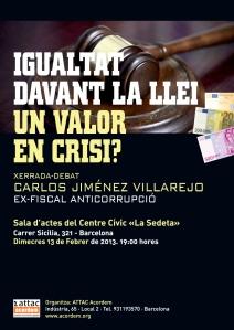 Xerrada Villarejo cartel