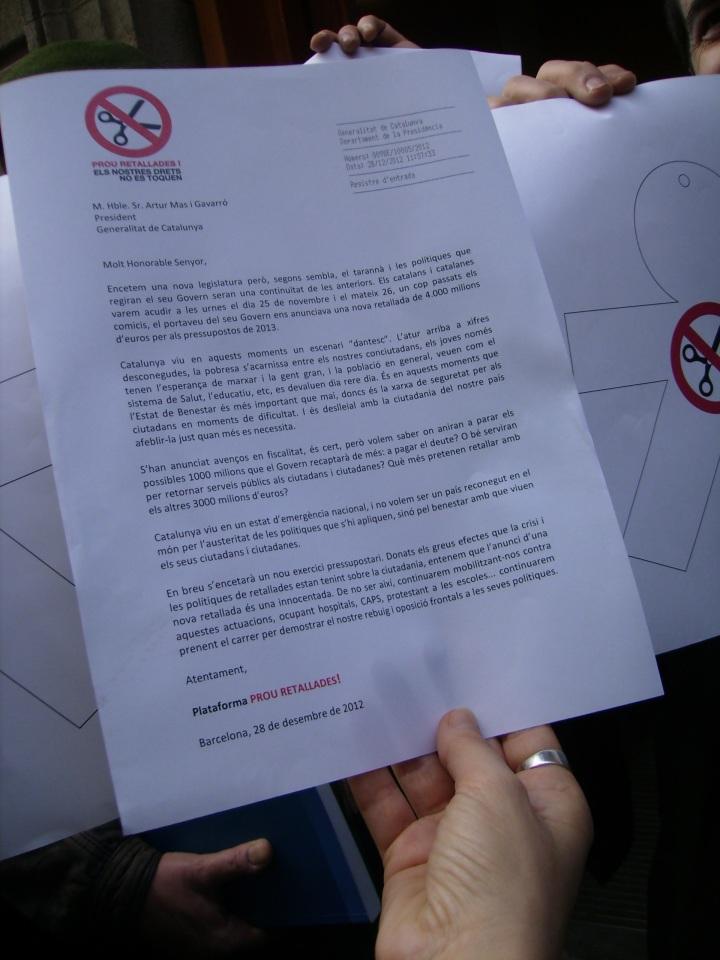 carta-manifest amb número de registre