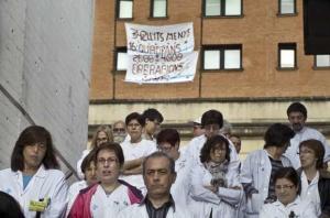 Protesta contra les retallades el 20 d'abril de 2011 / CARLA MORAL