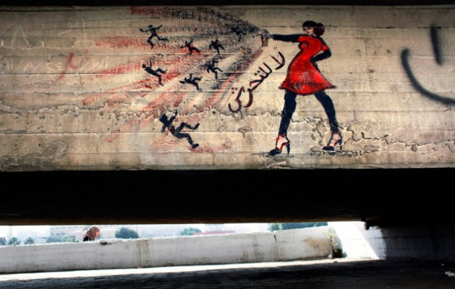 Mideast Egypt Revolutionary Graffiti   CAI510