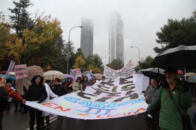 Marea Blanca del 17 de noviembre de 2013 en defensa del Hospital Carlos III Foto: Juanjo de la Peña