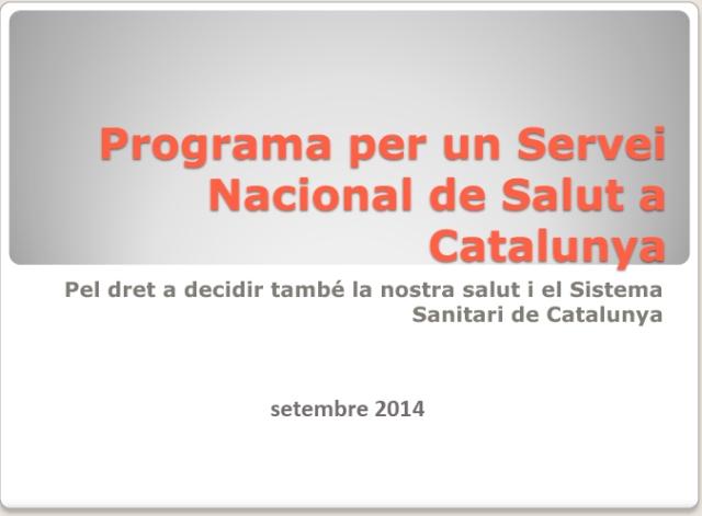 Programa per un Servei Nacional de Salut a